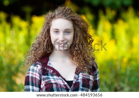 Fat teenaage girls with curley hair