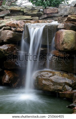Pretty waterfall over rocks
