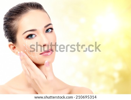 Pretty woman. Antiaging concept. - stock photo
