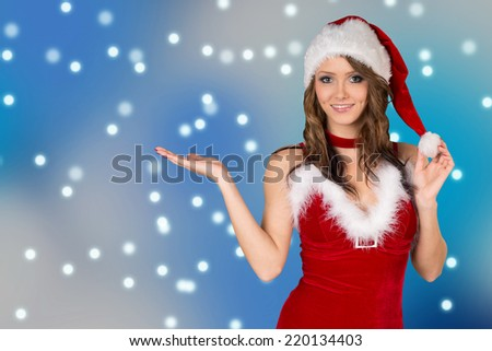 pretty woman in christmas costume / Christmas