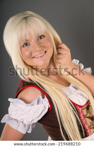 pretty woman in dirndl / Oktoberfest
