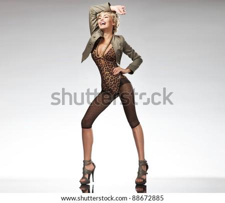 Pretty woman posing - stock photo