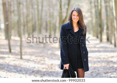 Pretty woman smiling and engaging