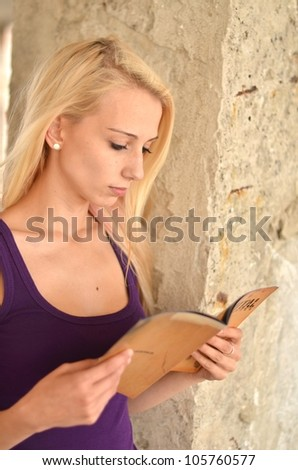 pretty woman with book