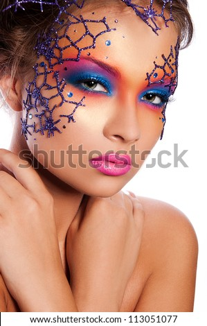 Woman With Creative Face Art Stock Photos, Royalty-Free Images ...
