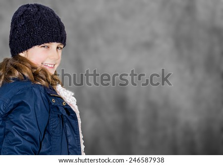 Pretty young girl in hat  - stock photo