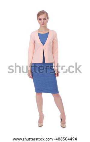pretty young girl wearing blue dress and bolero