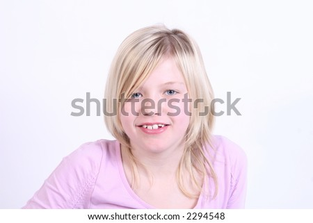 Pretty young lady - stock photo
