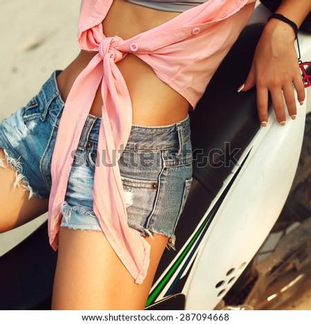 Overhead Shot Female Casual Clothes Stock Photo 379861573