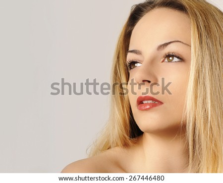 Pretty young woman - stock photo