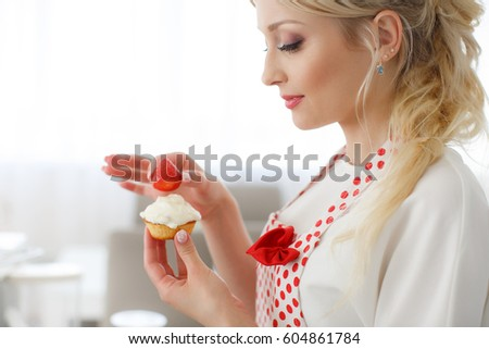 Woman Decorating Cupcakes black woman baking stock images, royalty-free images & vectors