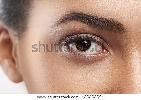 Pretty young woman with beautiful appearance - stock photo