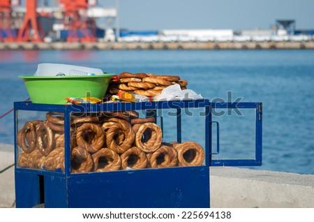 pretzel - stock photo