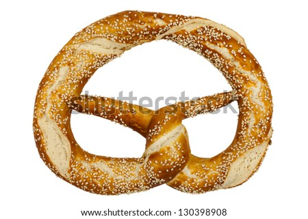 Pretzel include hand made clipping path