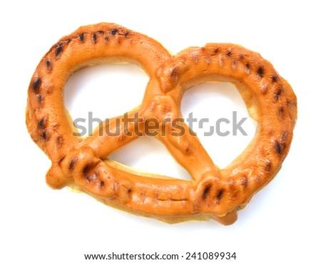 pretzel isolated on white background. soft  - stock photo