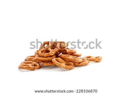 Pretzels isolated on a white background. - stock photo
