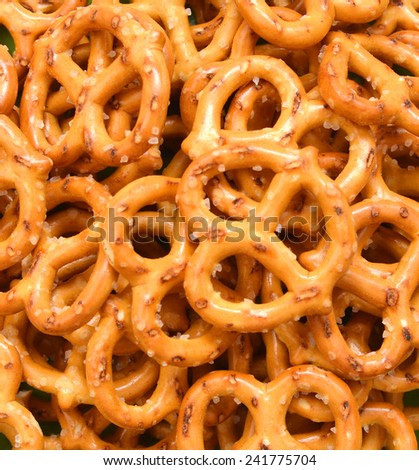 Pretzels Isolated on  Background
