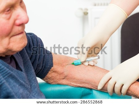 Preventing sudden death by monitoring blood clotting with simple tests. - stock photo