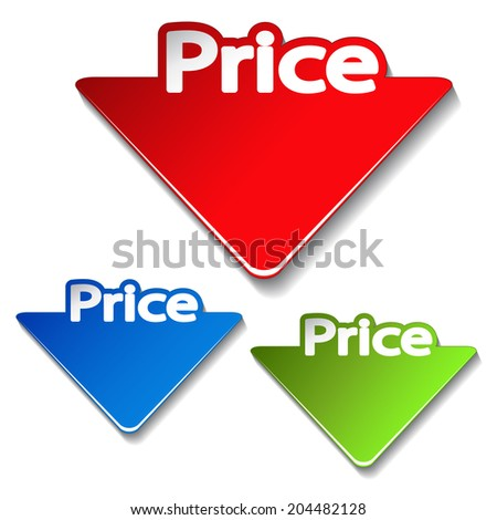 price labels, price-tags - stock photo