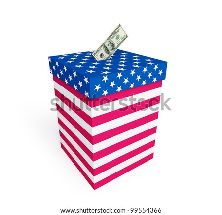 price of vote in elections in the U.S. on a white background