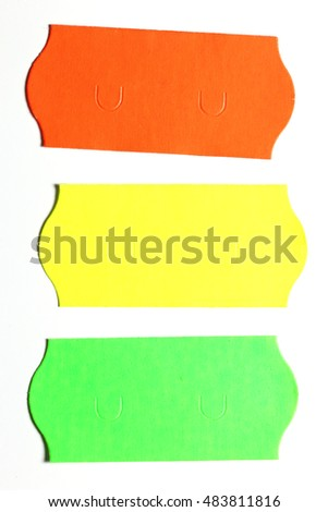 Price stickers isolated on white background