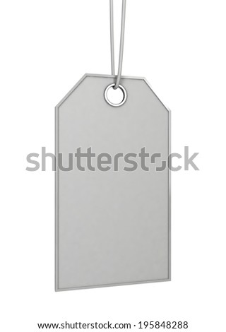 Price tag. 3d illustration isolated on white background  - stock photo