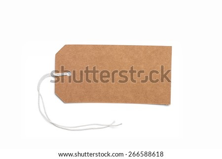 Price tag, gift tag, sale tag, address label on white - stock photo
