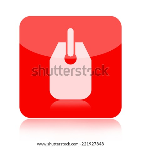 Price tag icon - stock photo