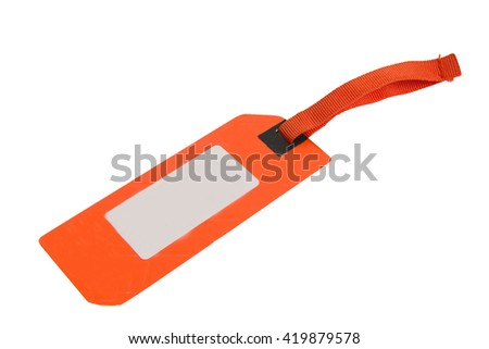 Price tag isolated on a white background - stock photo