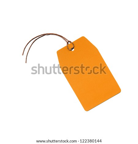 Price tag or address label with string