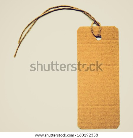 Price tag or address label with string vintage look