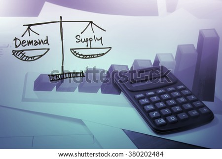 pricing strategy,demand and supply in business ,supply chain concept - stock photo