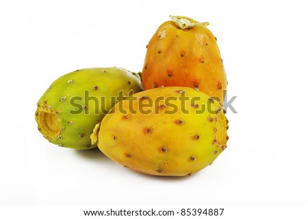 Prickly Pear isolated on white background
