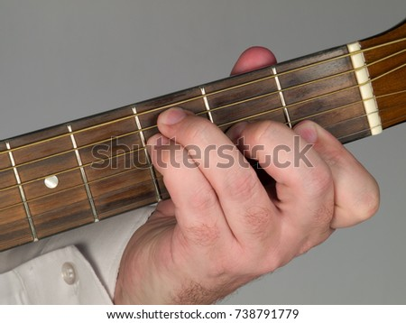Primary Guitar Chord F Major Stock Photo (Royalty Free) 738791779 ...