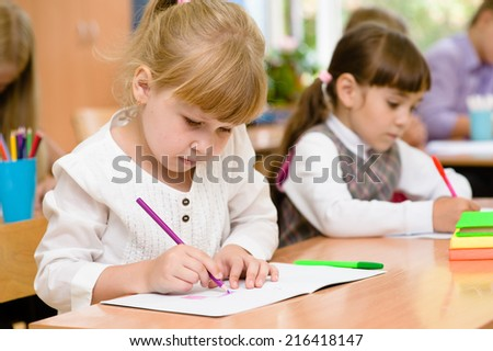Primary school pupils during the exam