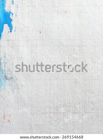 Primed canvas oil painting - stock photo