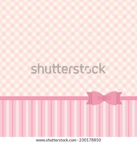 Primitive retro background in pastel colors ideal for baby shower