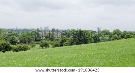 Primrose Hill park in London England UK