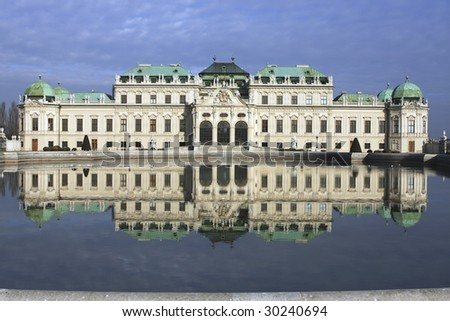 Prince Eugen of Savoy commisioned this palace with his reward for his victories during the Spanish Succession. - stock photo