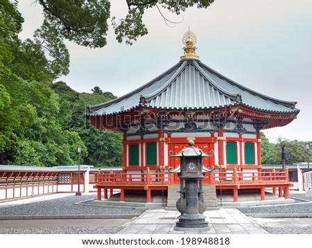 Prince Shotoku Hall at Shinsho Temple, Narita, Japan - stock photo