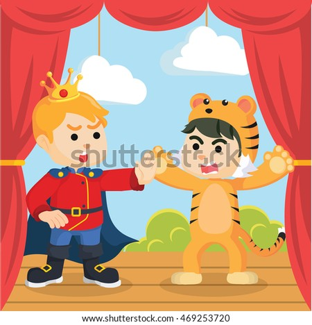 prince surprised by boy tiger