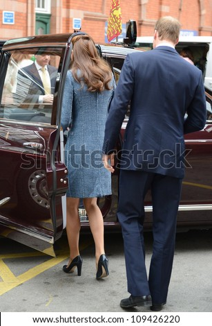Prince William and Catherine Duchess of Cambridge arrive in Nottingham during the Royal Jubilee Tour. Nottingham, UK. June 13, 2012, Nottingham, UK Picture: Catchlight Media / Featureflash - stock photo