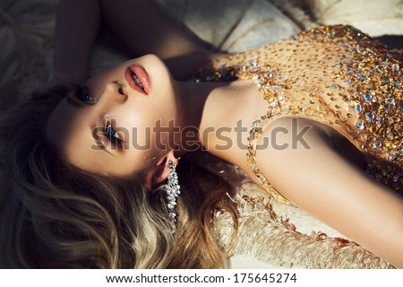 Princess in luxury - stock photo