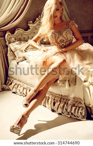Princess in luxury - stock photo