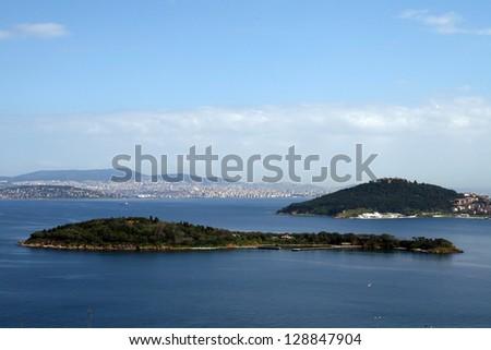 Princess Islands in Marmara Sea,Turkey. - stock photo