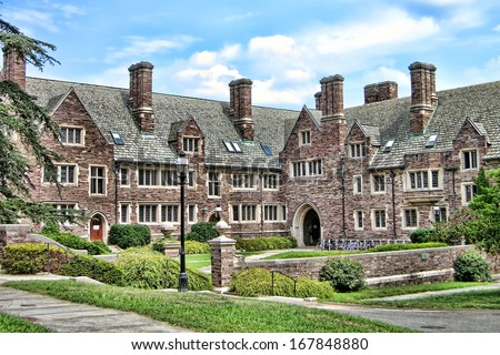 PRINCETON, NJ - December 15 2013: meningitis B outbreak strikes several Princeton University students and residents of campus dormitory leading to mass vaccination in December 2013 in Princeton - stock photo