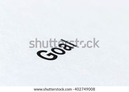 "Print word "" "" on the white paper"