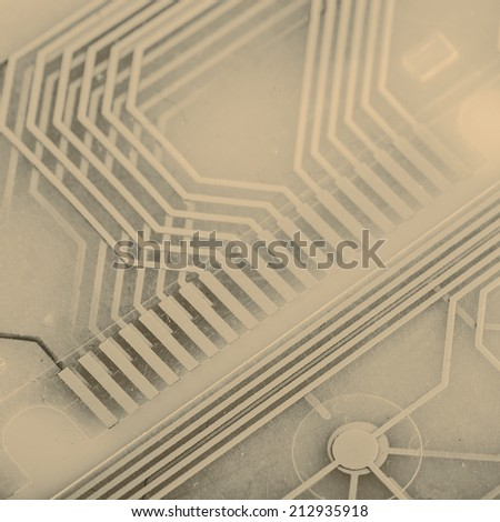 printed circuit - inside of keyboard - stock photo