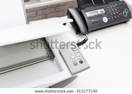 Printer and fax machine, office equipment