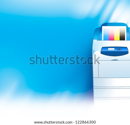 printer background abstract blue texture - stock photo